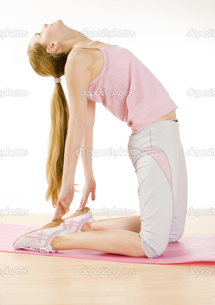 Exercising woman — Stock Photo #10988847