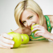 Woman with apples — Stock Photo #10990469