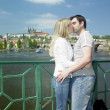 Couple in Prague, Czech Republic — Stock Photo