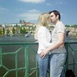 Couple in Prague, Czech Republic — Stock Photo