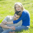 Couple on meadow — Stock Photo