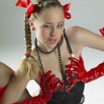 Portrait of woman wearing lignerie — Stock Photo #10990560