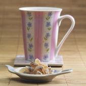 Tea with sugar — Stock Photo
