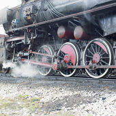 Detail of steam locomotive (33-326), Dubrava, Bosnia and Hercego — Stock fotografie