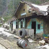 ヴィゼウ de sus、ルーマニア木材鉄道 botizu 駅 — ストック写真
