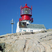 Lighthouse, Lindesnes, Norway — Stock fotografie