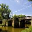 Bridge, Brissac-Quincé, Pays-de-la-Loire, France — Stock Photo