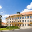 Stock Photo: Town hall, Nove Mesto nad Metuji, Czech Republic