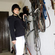 Stock Photo: Equestrian in a stable