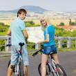 Bikers holding a map, Czech Republic — Stock Photo #11284198