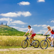 Bikers, Hazmburk, Ceske stredohori, Czech Republic — Stock Photo