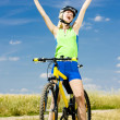 Happy Biker — Stock Photo