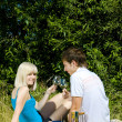 Couple at a picnic — Stock Photo #11284345