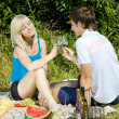 Couple at a picnic — Stock Photo #11284357