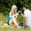 Couple at a picnic — Stock Photo #11284361