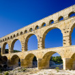 Roman aqueduct, Pont du Gard, Languedoc-Roussillon, France — Stock Photo #11284479