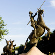 Statue of Don Quijote, Campo de Criptana, Castile-La Mancha, Spa — Stock Photo