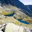 Five Spis Tarns, Vysoke Tatry (High Tatras), Slovakia - Stock Photo