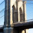 Detail of Brooklyn Bridge, Manhattan, New York City, USA — Stock Photo #11285894
