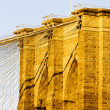 Detail of Brooklyn Bridge, Manhattan, New York City, USA — Stock Photo