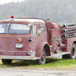 Stock Photo: Old fire engine, Vermont, USA