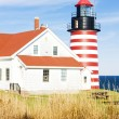 West Quoddy Head Lighthouse, Maine, USA — Stock Photo #11286194