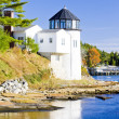 Stock Photo: Lighthouse, First Light Bed Breakfast, Maine, USA