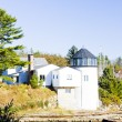 Lighthouse, First Light Bed Breakfast, Maine, USA — Stock Photo
