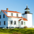 Lighthouse Fort Point Light, Stockton Springs, Maine, USA - Stock Photo
