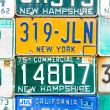 Registration numbers, USA — Stock Photo