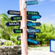 Guidepost, North Point, Barbados — Stock Photo