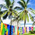 Typical fabrics, Bathsheba, East coast of Barbados, Caribbean — Stock Photo