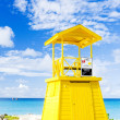 Cabin on the beach, Enterprise Beach, Barbados, Caribbean — Stock Photo