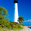 Cape FloridLighthouse, Key Biscayne, Miami, Florida, USA — Stock Photo #11287431