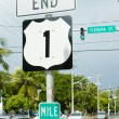 Stock Photo: End of the road number 1, Key West, Florida, USA