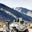 Old steam locomotive, Silverton, Colorado, USA — Stock Photo