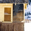 Stock Photo: Timetable, Silverton, Colorado, USA