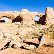 North Window and South Window, Arches National Park, Utah, USA — Stock Photo
