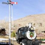 haste locomotiva no museu ferroviário de colorado, EUA — Foto Stock