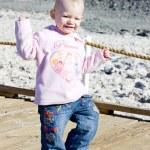 Little girl on walk — Stock Photo #11288753
