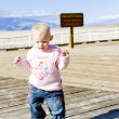 Little girl on walk, Death Valley, California, USA — Stock Photo #11288755