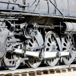 Detail of steam locomotive, Kingman, Arizona, USA — Stock Photo