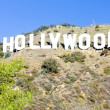 Hollywood Sign, Los Angeles, California, USA - Stock Photo
