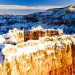 Sunset Point, Bryce Canyon National Park in winter, Utah, USA — Stock Photo