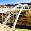 Bridge over Lake Powell, Glen Canyon, Utah, USA - Stock Photo
