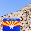 Sign on the Arizona border, USA — Stock Photo