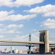 Brooklyn Bridge and Manhattan Bridge, New York City, USA — Stock Photo