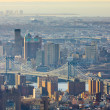 Stock Photo: ManhattBridge, view of from Empire State Building, New Yo