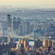 Manhattan Bridge, view of from The Empire State Building, New Yo — Stock Photo