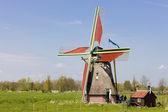 Windmill, Ooievaarsdorp, Netherlands — Stock Photo